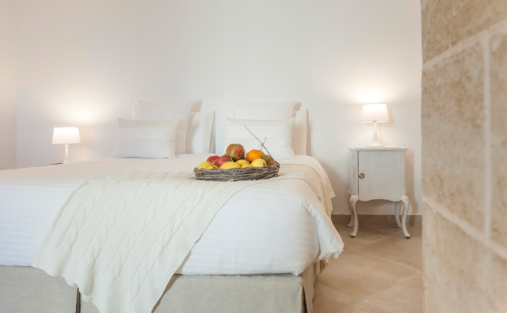 Superior room at Masseria Le Mandorle Ugento Salento Italy